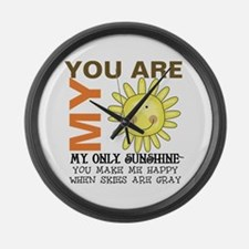 You Are My Sunshine Large Wall Clock