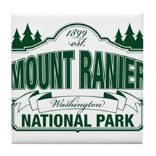 Mt Ranier NP Tile Coaster