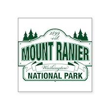 """Mt Ranier NP Square Sticker 3"""" x 3"""""""
