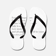swedish-proverb-bod-gray Flip Flops