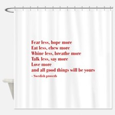 swedish-proverb-bod-burg Shower Curtain