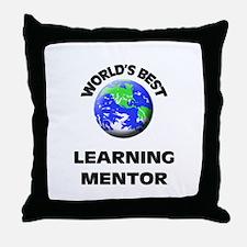World's Best Learning Mentor Throw Pillow