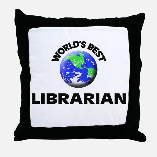 World's Best Librarian Throw Pillow