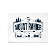 Mt Ranier NP 5'x7'Area Rug