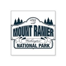 "Mt Ranier NP Square Sticker 3"" x 3"""