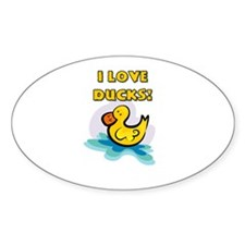 I Love Ducks Decal