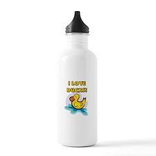 I Love Ducks Sports Water Bottle