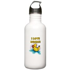 I Love Ducks Water Bottle