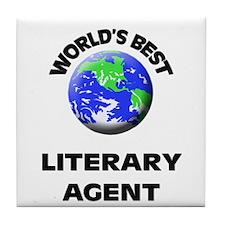 World's Best Literary Agent Tile Coaster