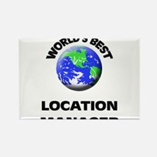 World's Best Location Manager Rectangle Magnet