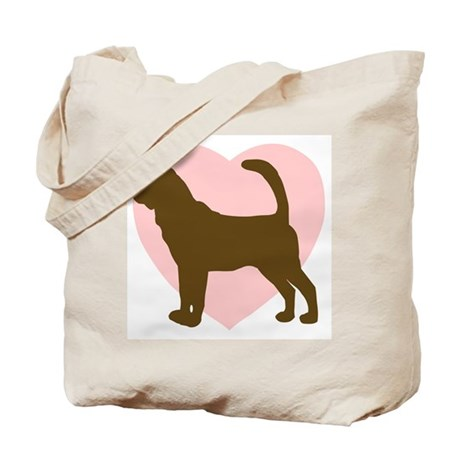 Bloodhound Heart Tote Bag