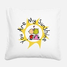 In Love You Are My Sunshine Square Canvas Pillow