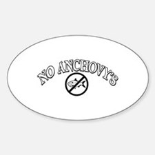 No Anchovy's Decal