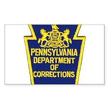 Pensylvania Corrections Rectangle Decal