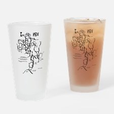 I bike HSV Drinking Glass