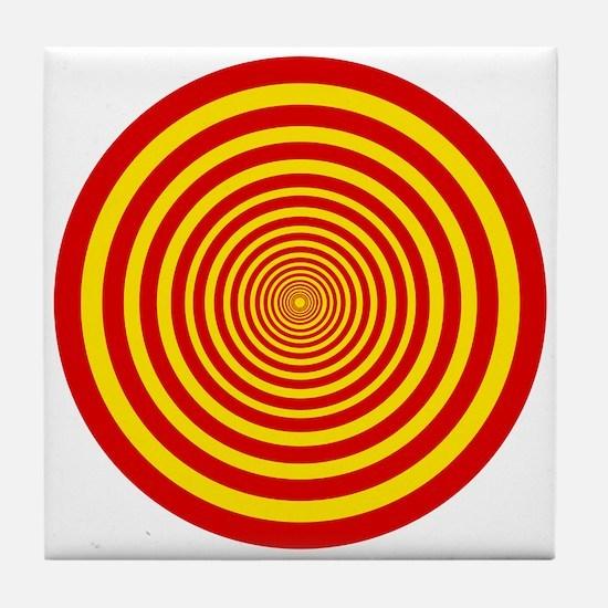 Trippy Circles Tile Coaster