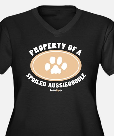 3-Dog Walker Aussiedoodle-B.png Plus Size T-Shirt