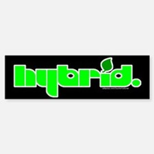 HYBRID - Logo on black Bumper Bumper Bumper Sticker