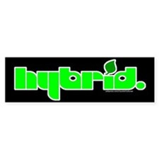 HYBRID - Logo on black Bumper Bumper Sticker