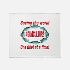 Aquaculture Throw Blanket