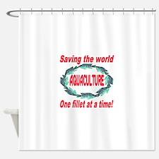 Aquaculture Shower Curtain