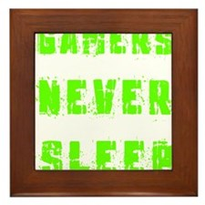 Gamers never sleep Framed Tile