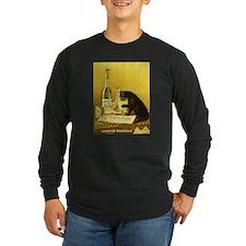 Absinthe Bourgeois Chat Noir Long Sleeve T-Shirt
