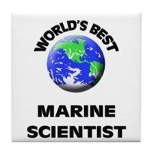 World's Best Marine Scientist Tile Coaster