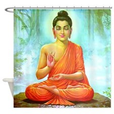 Big Buddha Shower Curtain
