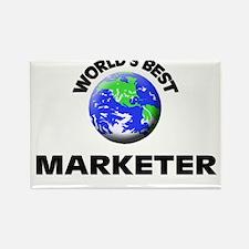 World's Best Marketer Rectangle Magnet