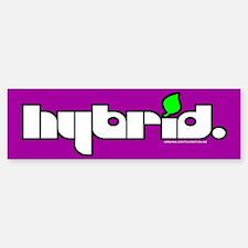 HYBRID - Logo on color Bumper Bumper Bumper Sticker