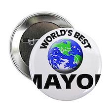 """World's Best Mayor 2.25"""" Button"""