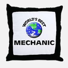 World's Best Mechanic Throw Pillow
