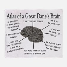 Atlas of a great danes brain Throw Blanket
