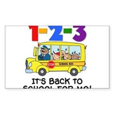 123 Back To School Decal