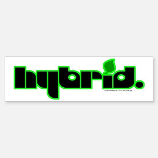 HYBRID - Logo on white Bumper Bumper Bumper Sticker