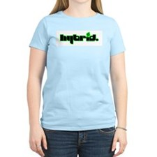 HYBRID - Logo on white Women's Pink T-Shirt