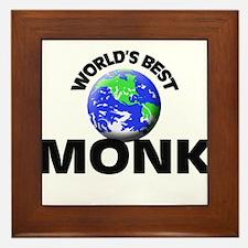World's Best Monk Framed Tile