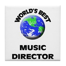 World's Best Music Director Tile Coaster