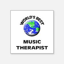 World's Best Music Therapist Sticker