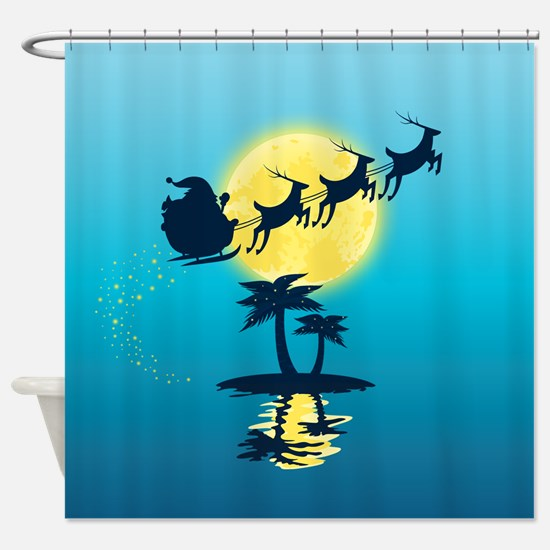 Tropical Christmas Shower Curtain