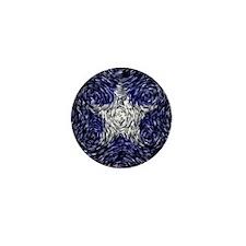 Van Gogh's Bonnie Blue Flag Mini Button