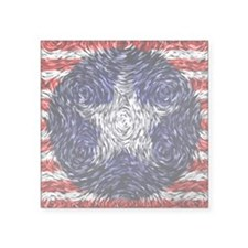 "Van Gogh's Bonnie Blue Flag Square Sticker 3"" x 3"""
