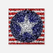 "Van Gogh's Bonnie Blue Flag Square Sticker 3"" x 3"""