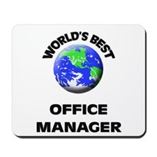 World's Best Office Manager Mousepad