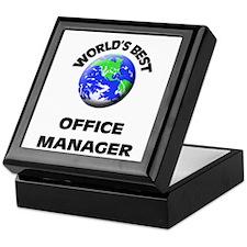 World's Best Office Manager Keepsake Box