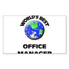 World's Best Office Manager Decal
