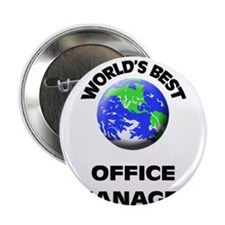"""World's Best Office Manager 2.25"""" Button"""