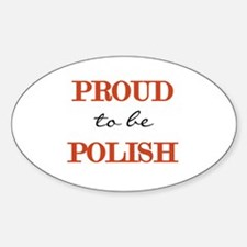 Polish Pride Oval Decal