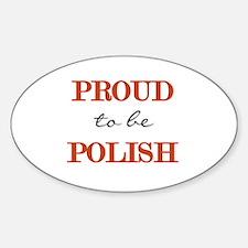Polish Pride Oval Stickers